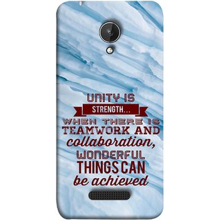 FUSON Designer Back Case Cover for Micromax Canvas Spark Q380 (Teamwork And Collaboration Wonderful Things Achieve)
