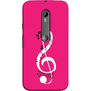 FUSON Designer Back Case Cover for Motorola Moto G Turbo Edition :: Virat FanBox Moto G Turbo Virat Kohli (Colorful Music Notes Symbols Small Black Notes)