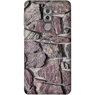 FUSON Designer Back Case Cover For Huawei Honor 6X (Sandstone Bricks Of Irregular Shapes Slotting Together )