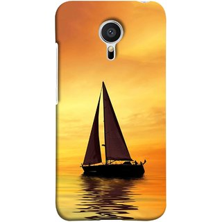 FUSON Designer Back Case Cover for Meizu MX5 (Sailing Ships Sailboats Ocean Pond Sea River)