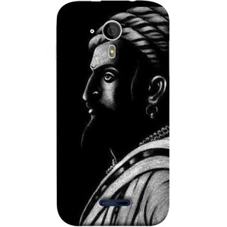 FUSON Designer Back Case Cover for Micromax Canvas Magnus A117 :: Micromax A117 Canvas Magnus (Chatrapati Shivaji Maharaj Sideview Jiretop With Beard)