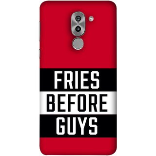 FUSON Designer Back Case Cover For Huawei Honor 6X (Food Before Dudes Food Lovers Mac D Lovers )