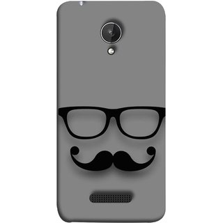 FUSON Designer Back Case Cover for Micromax Canvas Spark Q380 (Mustache Glasses T-ShirtYoung Boys Back Cover)