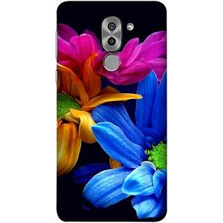 FUSON Designer Back Case Cover For Huawei Honor 6X (Colourful Wow Hd Gerbera Flowers Pink Blur Orange)