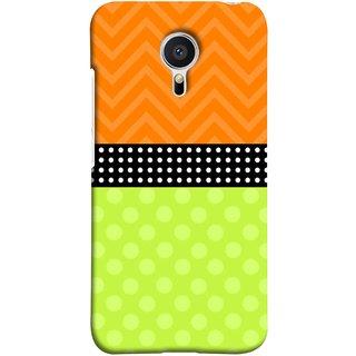 FUSON Designer Back Case Cover for Meizu MX5 (Pack Craft PaperWhite Dots On Black Background)