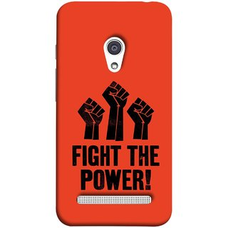 FUSON Designer Back Case Cover For Asus Zenfone 6 A600CG (Always Fight For Truth Justice Will Stand Tall In Sky )