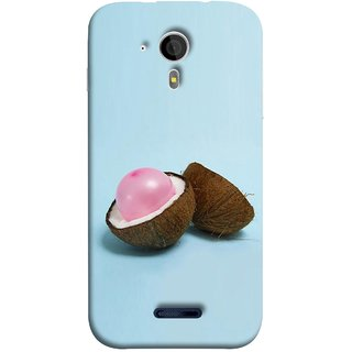FUSON Designer Back Case Cover for Micromax Canvas Magnus A117 :: Micromax A117 Canvas Magnus (Coconut Bubble Baloon White Coconut Brown Shell)