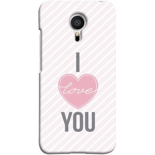 FUSON Designer Back Case Cover for Meizu MX5 (Just Pinky Say Always I Love You Red Hearts Couples)
