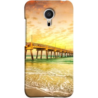 FUSON Designer Back Case Cover for Meizu MX5 (Jetty Wharf Clear Water Newzeland India Beaches)