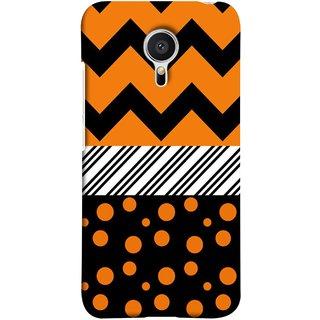 FUSON Designer Back Case Cover for Meizu MX5 (Pack Craft PaperOrange Dots On Black Background)