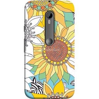 FUSON Designer Back Case Cover for Motorola Moto G Turbo Edition :: Virat FanBox Moto G Turbo Virat Kohli (Sunflowers Flowers Green Grass Beautiful Painting Canvas)