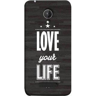FUSON Designer Back Case Cover for Micromax Canvas Spark Q380 (Always Love Your Life Fullest For Family )