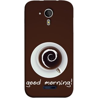 FUSON Designer Back Case Cover for Micromax Canvas Magnus A117 :: Micromax A117 Canvas Magnus (Good Morning Afternoon Evening Coffee Tea Cream )
