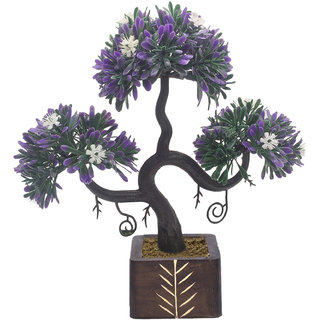 Buy random s shaped artificial bonsai tree with purple leaves and random s shaped artificial bonsai tree with purple leaves and white flowers mightylinksfo