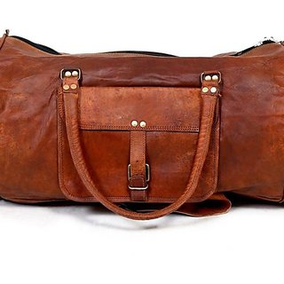 90c566369b373a Buy Gosling Leather Duffle/Gym Bag 18 - Brown Online - Get 22% Off
