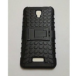 san francisco bc05e bb022 Defender Kick Stand Back Cover Case For Gionee P5L P 5L Mobile ( black  Color )