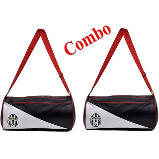 Pack of Two (2)Gym Bag Duffle Bag Travel Bag (Leatherite, Black Size 30L)
