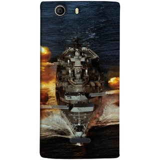 FUSON Designer Back Case Cover for Micromax Canvas Nitro 2 E311 (Indian Submarine Shoots Ship With Missile Training )