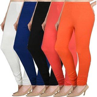 Nishtha Creative Fashion Soft Cotton Lycra leggings bbwpo1989-5c2 PACK OF 5 FREE SIZE