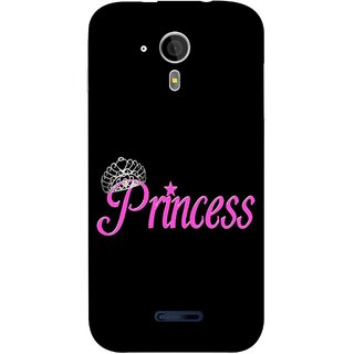 FUSON Designer Back Case Cover for Micromax Canvas Magnus A117 :: Micromax A117 Canvas Magnus (Silver Crown Of Princess Prince King Baby Pink)