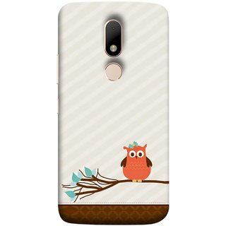 FUSON Designer Back Case Cover for Motorola Moto M (Birds Sitting Alone Waiting For Partner Leaves Leaf)