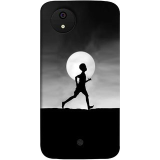 FUSON Designer Back Case Cover for Micromax Canvas Android A1 AQ4501 :: Micromax Canvas Android A1 (Halloween Vector Illustration Background Full Moon )