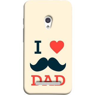 FUSON Designer Back Case Cover For Asus Zenfone 5 A501CG (Dad Day Family Mom Life Long Fathers Day)