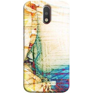 FUSON Designer Back Case Cover for Motorola Moto G4 Plus (Architect Design Wood Pattern Curvilinear Plan Year)