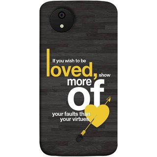 FUSON Designer Back Case Cover for Micromax Canvas Android A1 AQ4501 :: Micromax Canvas Android A1 (Broken Heart Arrow Quotes Show More Your)