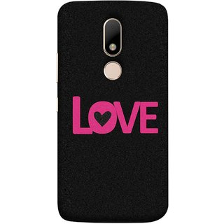 FUSON Designer Back Case Cover for Motorola Moto M (Love Life Forever Hearts Real Love True Lovers Valentine)