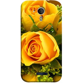 FUSON Designer Back Case Cover for Micromax Canvas Magnus A117 :: Micromax A117 Canvas Magnus (Friendship Yellow Roses Chocolate Hearts For Valentines Day)