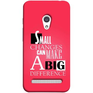 FUSON Designer Back Case Cover For Asus Zenfone 6 A600CG (Chote Chote Badlav Bada Farak Best Quotes Sayings)