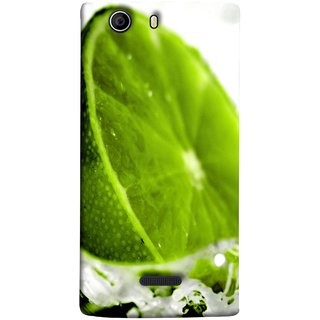 FUSON Designer Back Case Cover for Micromax Canvas Nitro 2 E311 (Lemon Lime Sweet Agriculture Farm Fresh Cut Cell)