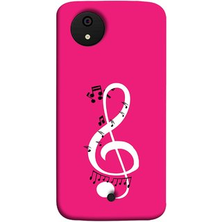 FUSON Designer Back Case Cover for Micromax Canvas Android A1 AQ4501 :: Micromax Canvas Android A1 (Disc Music Notes Music Lover And Collector )