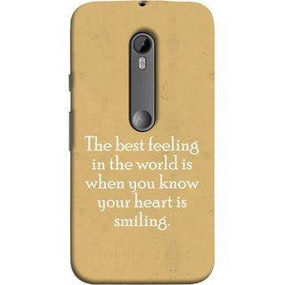 FUSON Designer Back Case Cover for Motorola Moto G Turbo Edition :: Virat FanBox Moto G Turbo Virat Kohli (Heart Is Smiling Best Feeling In World Keep Smile)