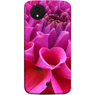 FUSON Designer Back Case Cover for Micromax Canvas Android A1 AQ4501 :: Micromax Canvas Android A1 (Floral Patterns Shining Dark Red Florals Design Patterns)