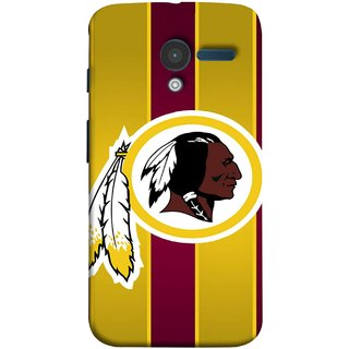 FUSON Designer Back Case Cover for Motorola Moto X :: Motorola Moto  X (1st Gen) XT1052 XT1058 XT1053 XT1056 XT1060 XT1055  (Yellow Circles White Yellow And Maroon Vertical)