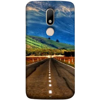 FUSON Designer Back Case Cover for Motorola Moto M (Scenic Road And Beautiful Mountains Highway Nature)