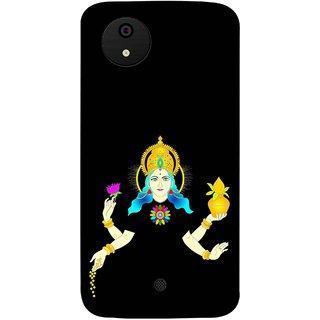 FUSON Designer Back Case Cover for Micromax Canvas Android A1 AQ4501 :: Micromax Canvas Android A1 (Laxmi Kamal Lotus Gold Crown Mukut Kalash)