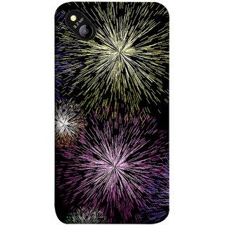 FUSON Designer Back Case Cover for Micromax Bolt D303 (Dark Night Fireworks Diwali Dipawali Flowers )