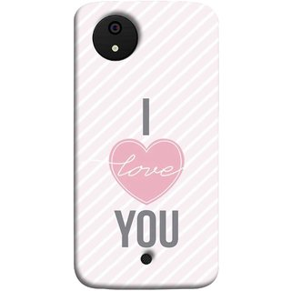 FUSON Designer Back Case Cover for Micromax Canvas Android A1 AQ4501 :: Micromax Canvas Android A1 (Just Pinky Say Always I Love You Red Hearts Couples)