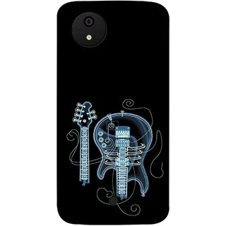 FUSON Designer Back Case Cover for Micromax Canvas Android A1 AQ4501 :: Micromax Canvas Android A1 (Musical Instrument Vintage Bass Music Lovers Play)
