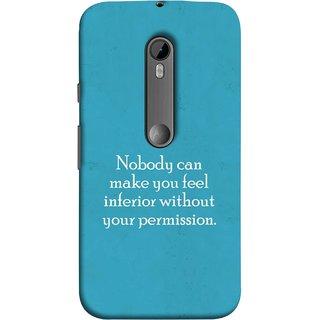 FUSON Designer Back Case Cover for Motorola Moto G Turbo Edition :: Virat FanBox Moto G Turbo Virat Kohli (Permission Motivational Inspirational Saying Quotes)