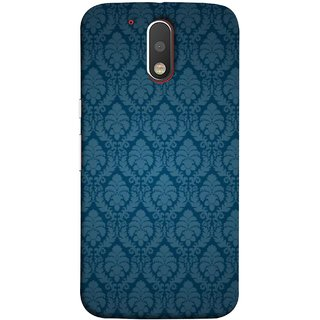 FUSON Designer Back Case Cover for Motorola Moto G4 Plus (Blue Artwork Student Spots Amazing Plywood Table Cloth)