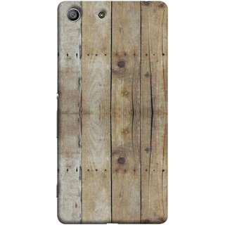 FUSON Designer Back Case Cover For Sony Xperia Z3 Compact :: Sony Xperia Z3 Mini (Wooden Back Cover Plates Nails Cracks Joints)