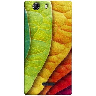 FUSON Designer Back Case Cover for Micromax Canvas Nitro 2 E311 (Nature Colour Big Lotus Leaves Network Of Veins)