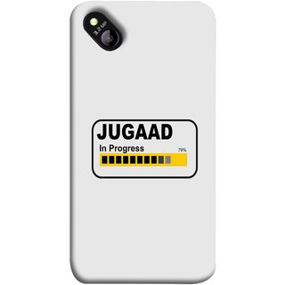 FUSON Designer Back Case Cover for Micromax Bolt D303 (Words Percentage Bar Yellow Black Slider)