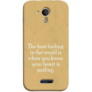 FUSON Designer Back Case Cover for Micromax Canvas Magnus A117 :: Micromax A117 Canvas Magnus (Heart Is Smiling Best Feeling In World Keep Smile)