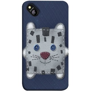 FUSON Designer Back Case Cover for Micromax Bolt D303 (Cloth Embroidered Shirt Jacket Patch Mouse Iron Sew)