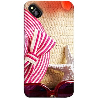 FUSON Designer Back Case Cover for Micromax Bolt D303 (Tropical Beach In Summer Holiday Toy Table )